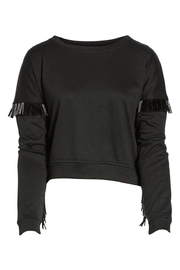 Blank NYC Beaded Fringe Crop Top - Other
