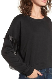 Blank NYC Beaded Fringe Crop Top - Front full body