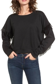 Blank NYC Beaded Fringe Crop Top - Front cropped