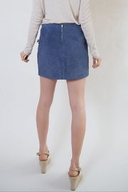 Blank NYC Blue Suede Skirt - Side cropped