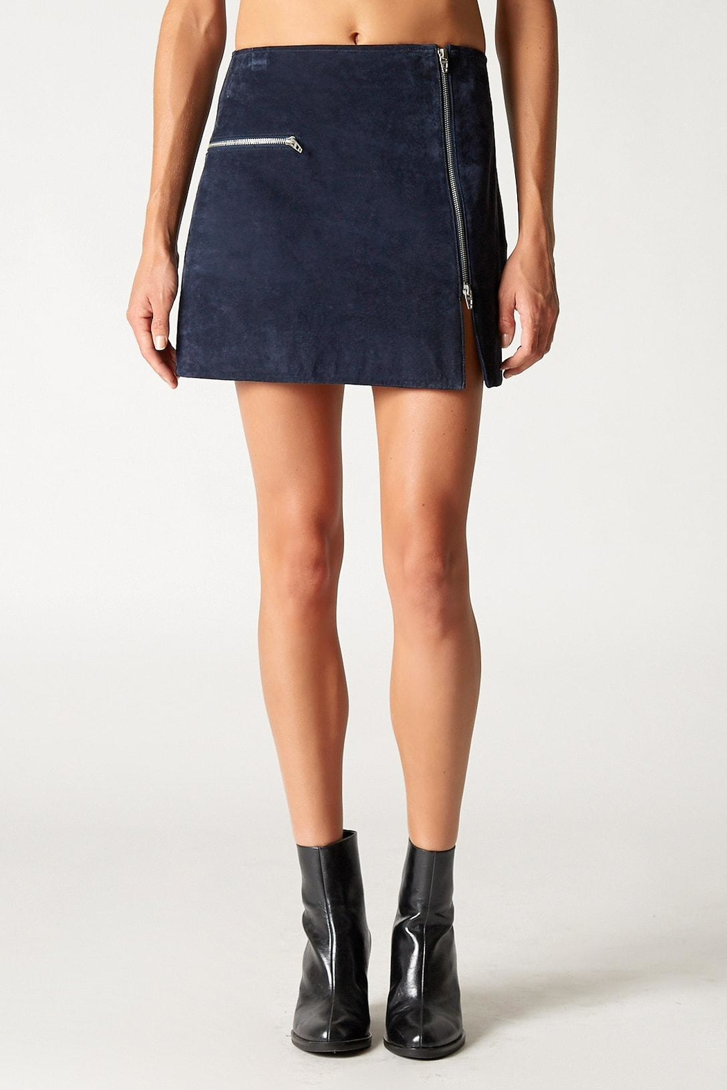 Blank NYC Blue Valentine Skirt - Front Cropped Image