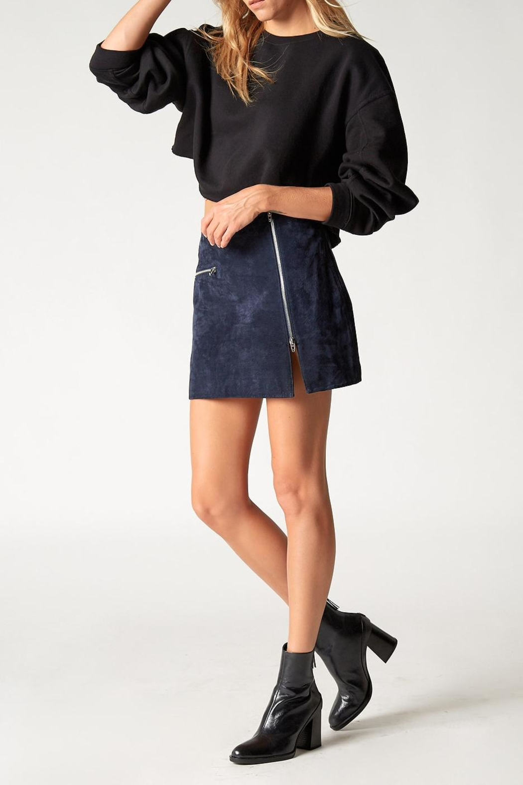 Blank NYC Blue Valentine Skirt - Back Cropped Image