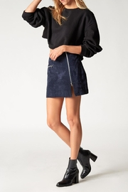 Blank NYC Blue Valentine Skirt - Back cropped