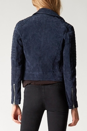 Blank NYC Blue Valentine Suede Jacket - Front full body