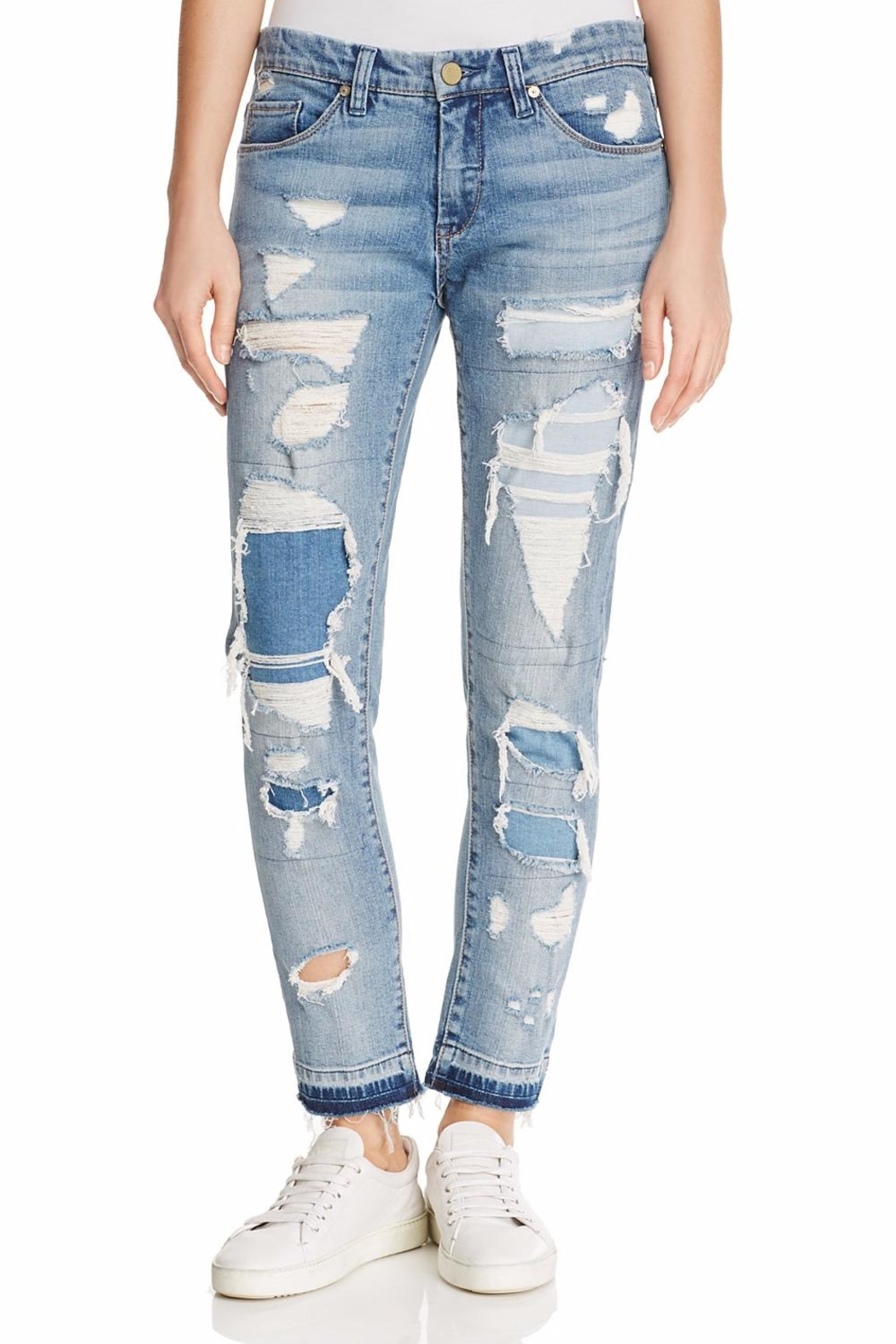 Blank NYC Distressed Jeans - Front Cropped Image