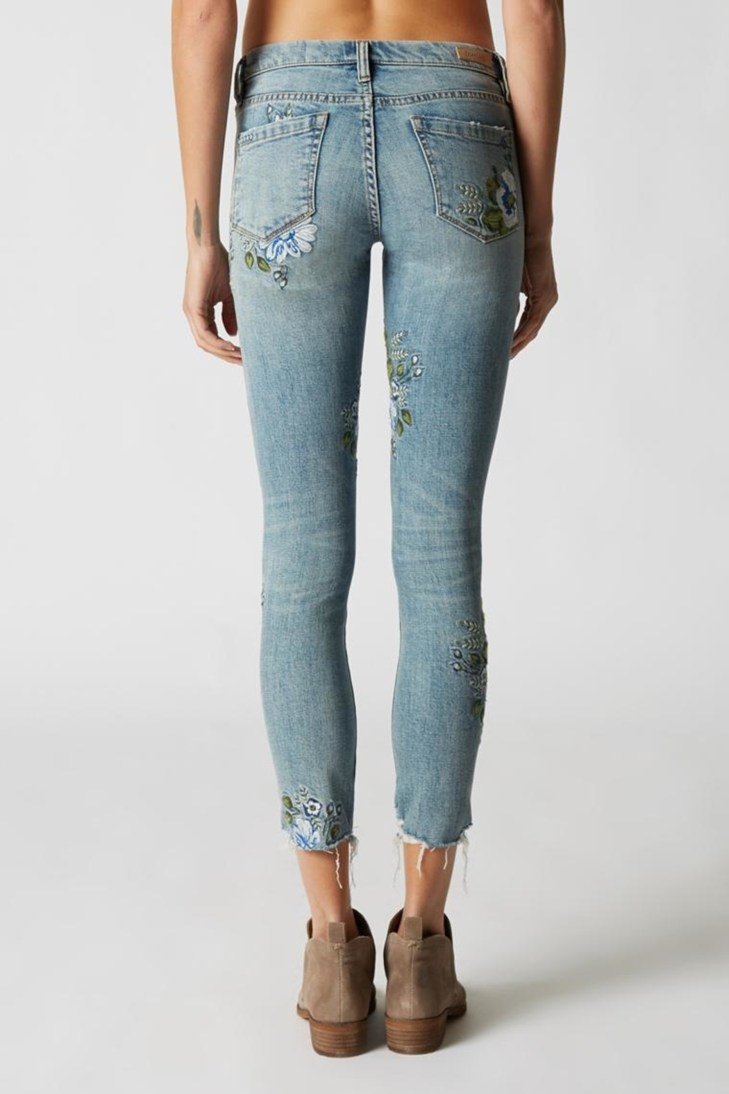 Blank NYC Embroidered Skinny Jeans - Side Cropped Image