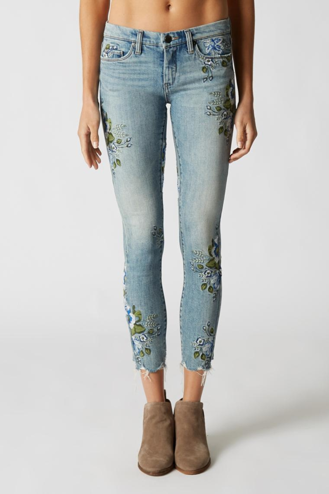 Blank NYC Embroidered Skinny Jeans - Main Image