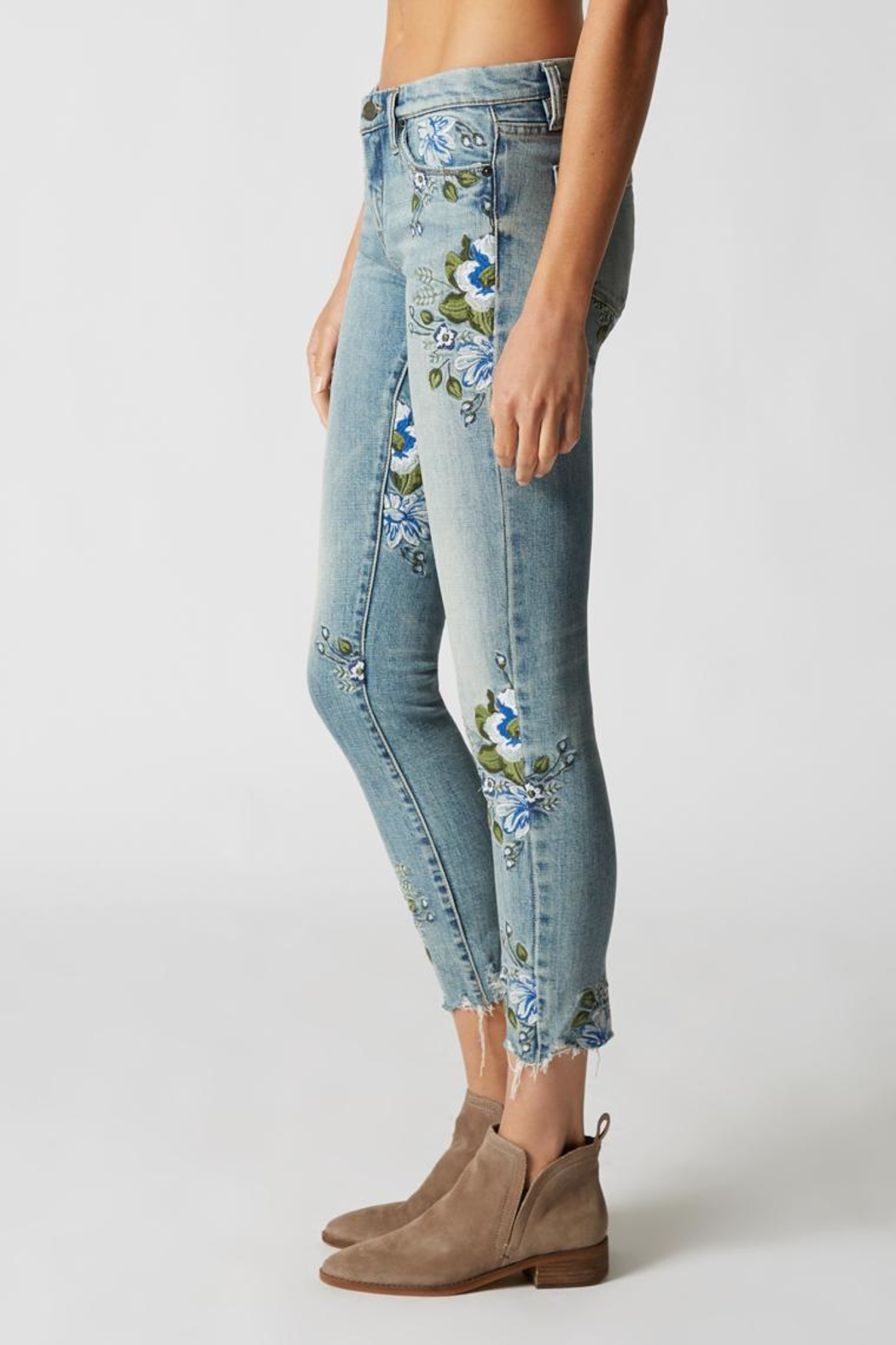 Blank NYC Embroidered Skinny Jeans - Front Full Image