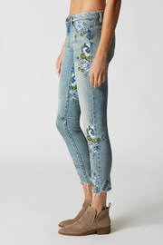 Blank NYC Embroidered Skinny Jeans - Front full body