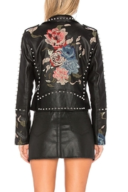 Blank NYC Embroidered Studded Moto Jacket - Side cropped