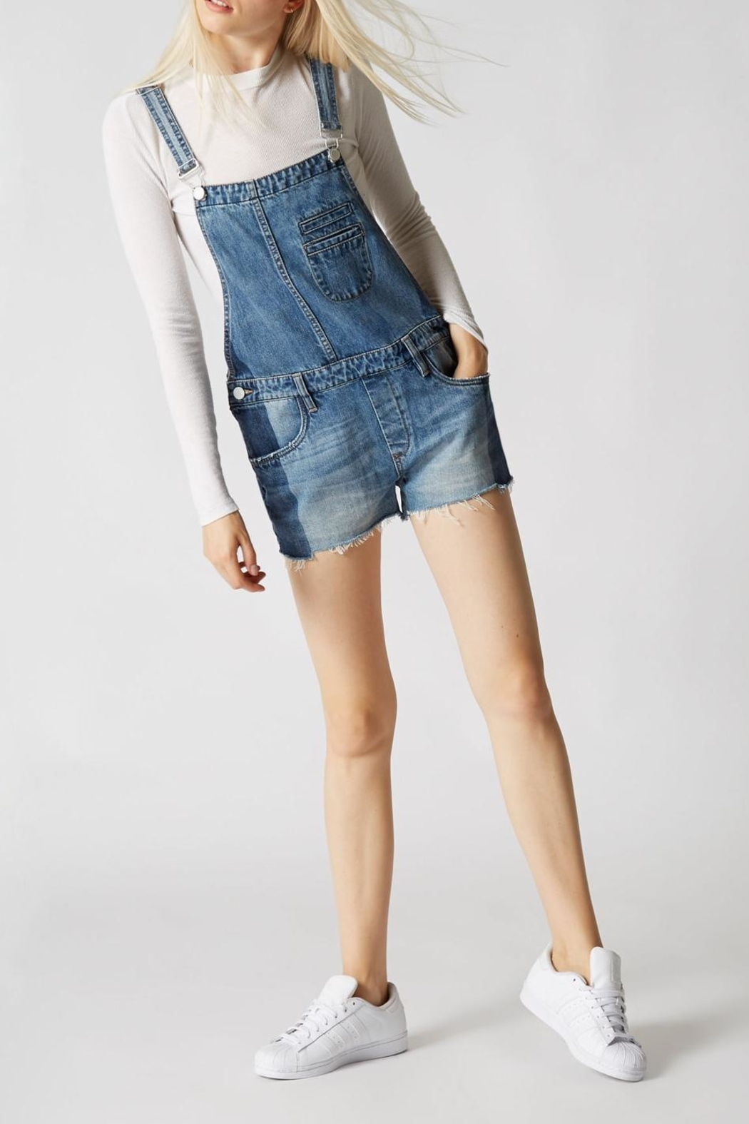Blank NYC Funny Bone Overall - Back Cropped Image