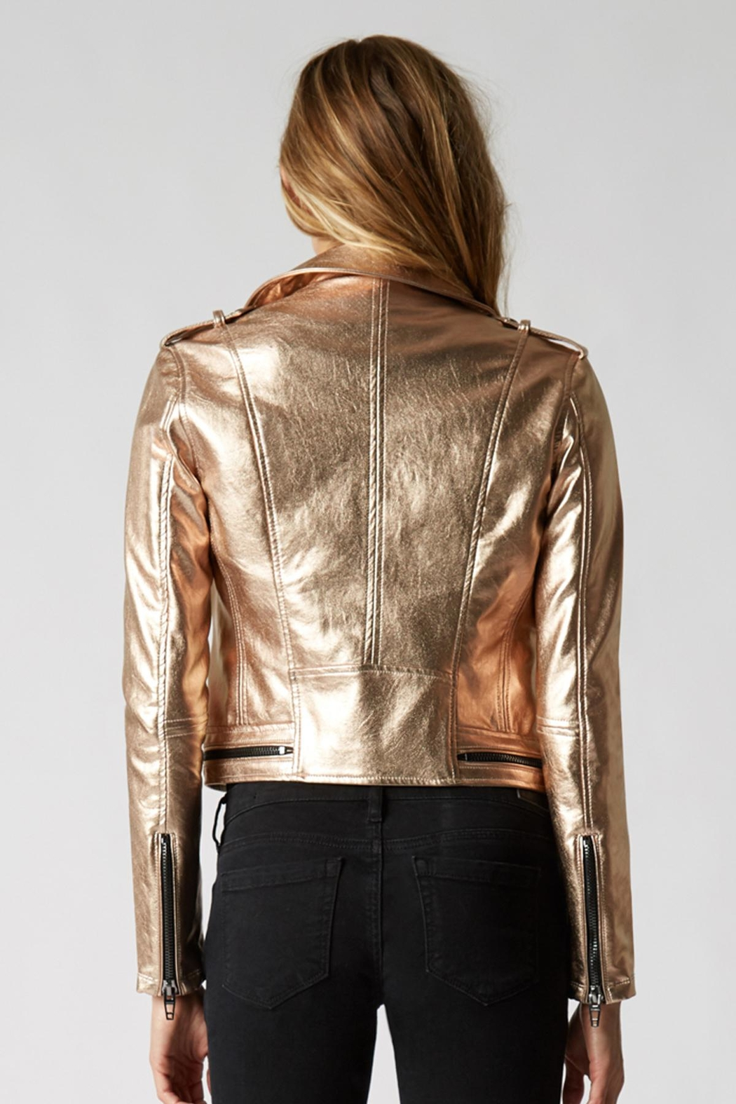 Blank NYC Metallic Moto Jacket - Side Cropped Image