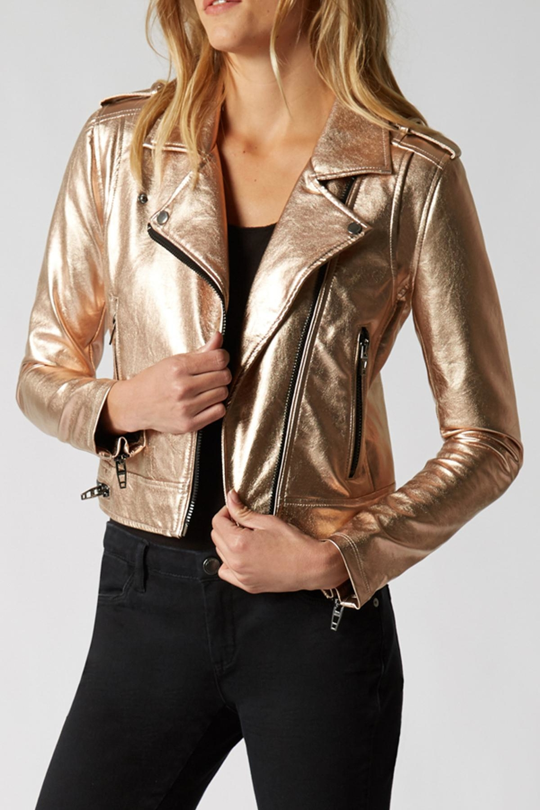 Blank NYC Metallic Moto Jacket - Main Image