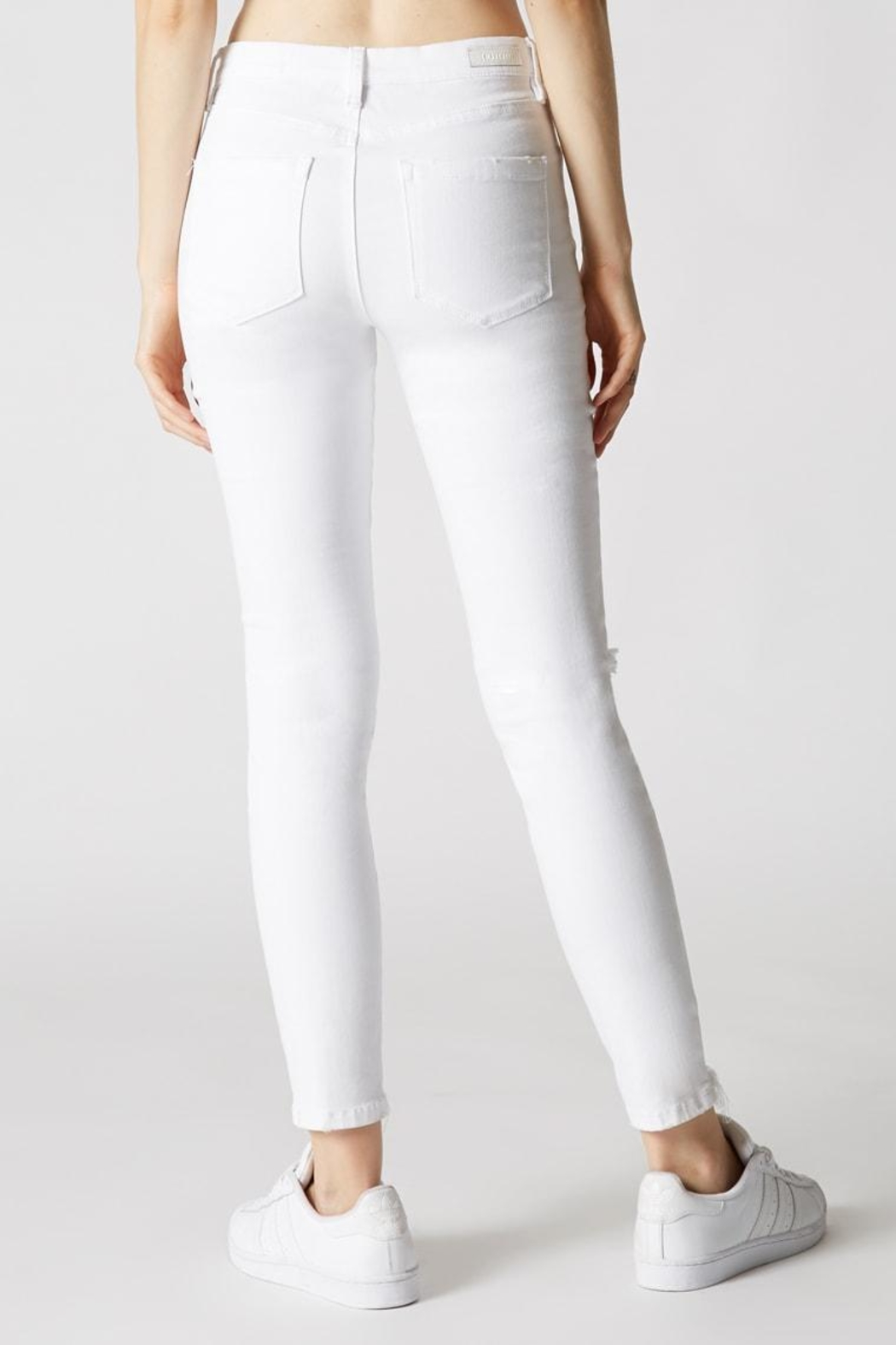 Blank NYC Mid-Rise Skinny Jean - Back Cropped Image