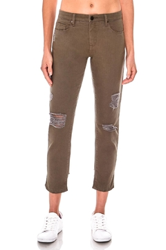 Shoptiques Product: Olive Girlfriend Cropped Pants