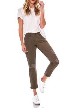 Blank NYC Olive Girlfriend Cropped Pants - Alternate List Image