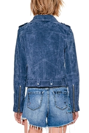 Blank NYC Real Suede Blue Jacket - Front full body