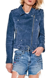Blank NYC Real Suede Blue Jacket - Front cropped