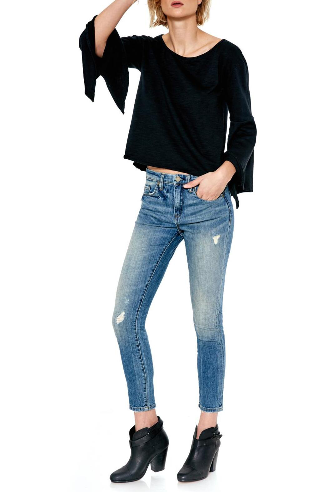 Blank NYC Shadow Bell Sleeve Top - Side Cropped Image