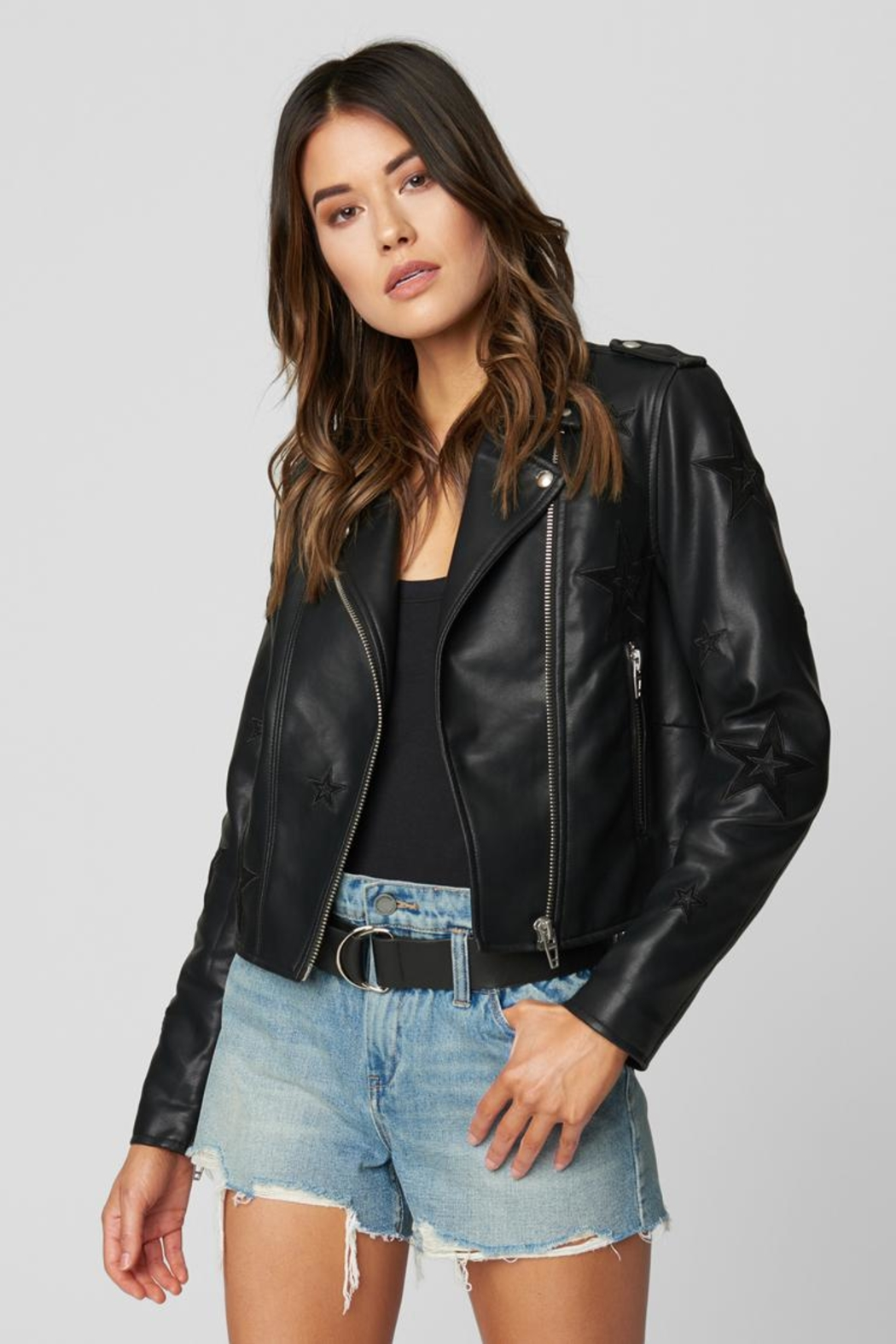 Blank NYC Shooting Star Jacket - Front Cropped Image