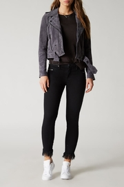 Blank NYC Stargazer Suede Moto Jacket - Front cropped