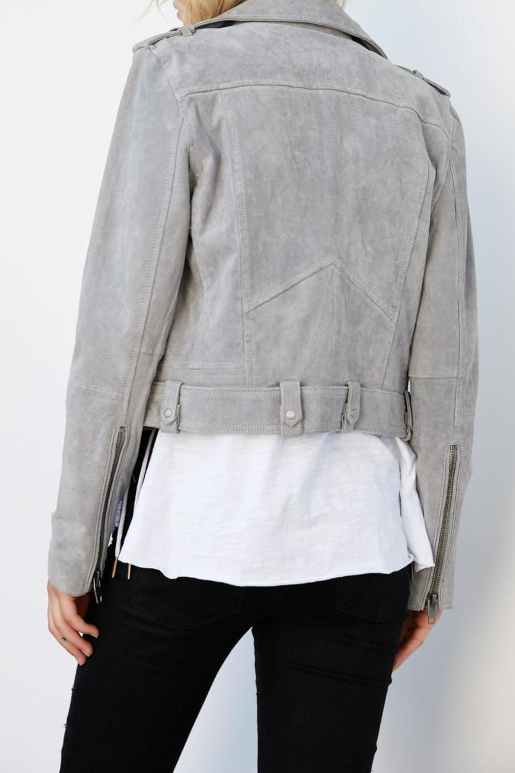 Blank NYC Suede Belted Moto - Front Full Image