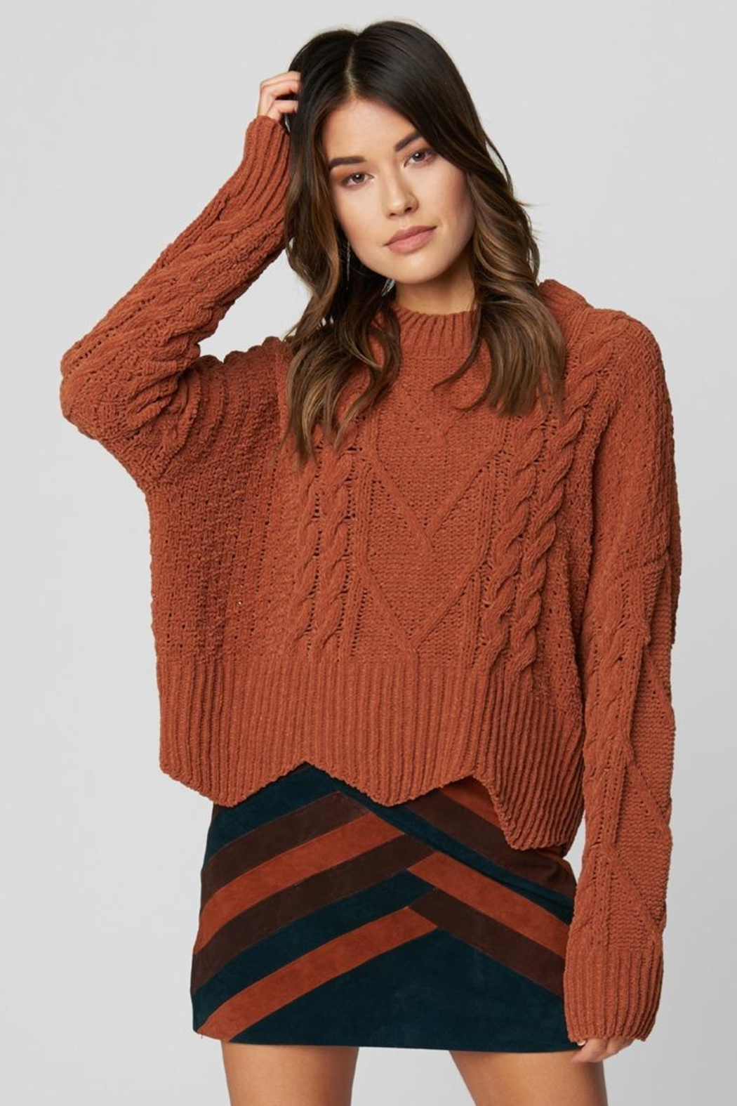 Blank NYC Terra Cotta Sweater - Front Full Image