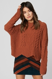 Blank NYC Terra Cotta Sweater - Front full body