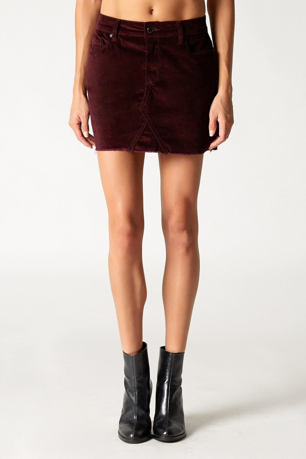 Blank NYC Wine Buzz Skirt - Front Cropped Image