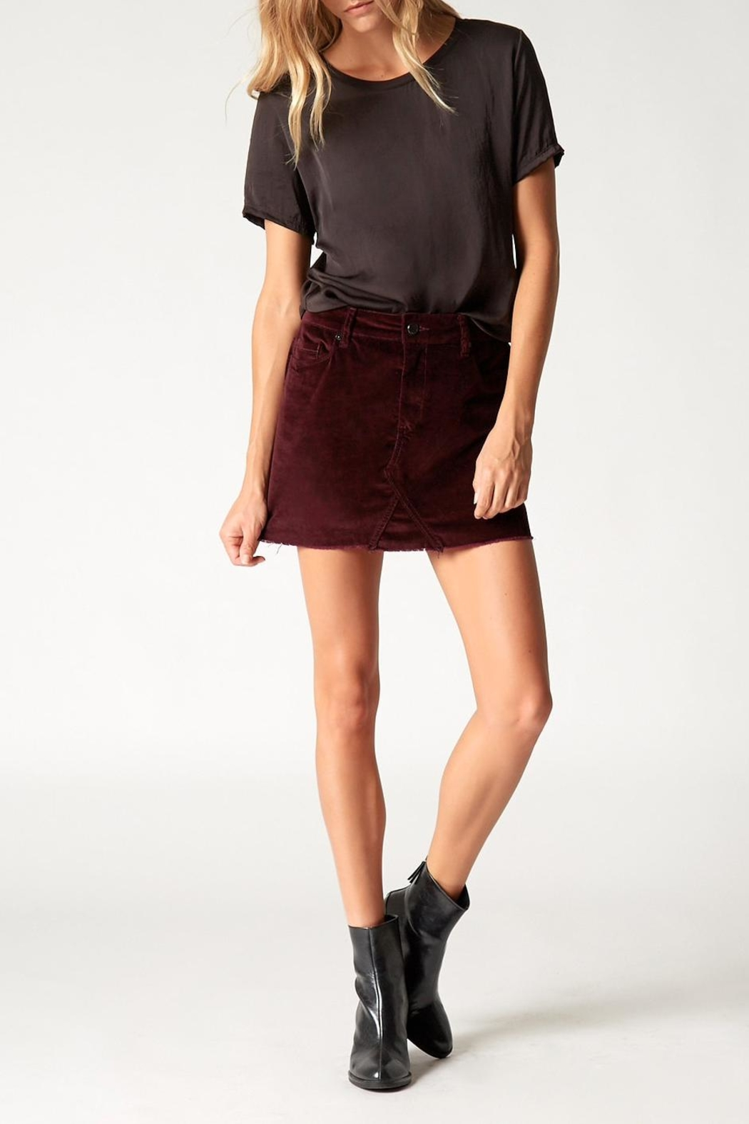Blank NYC Wine Buzz Skirt - Back Cropped Image