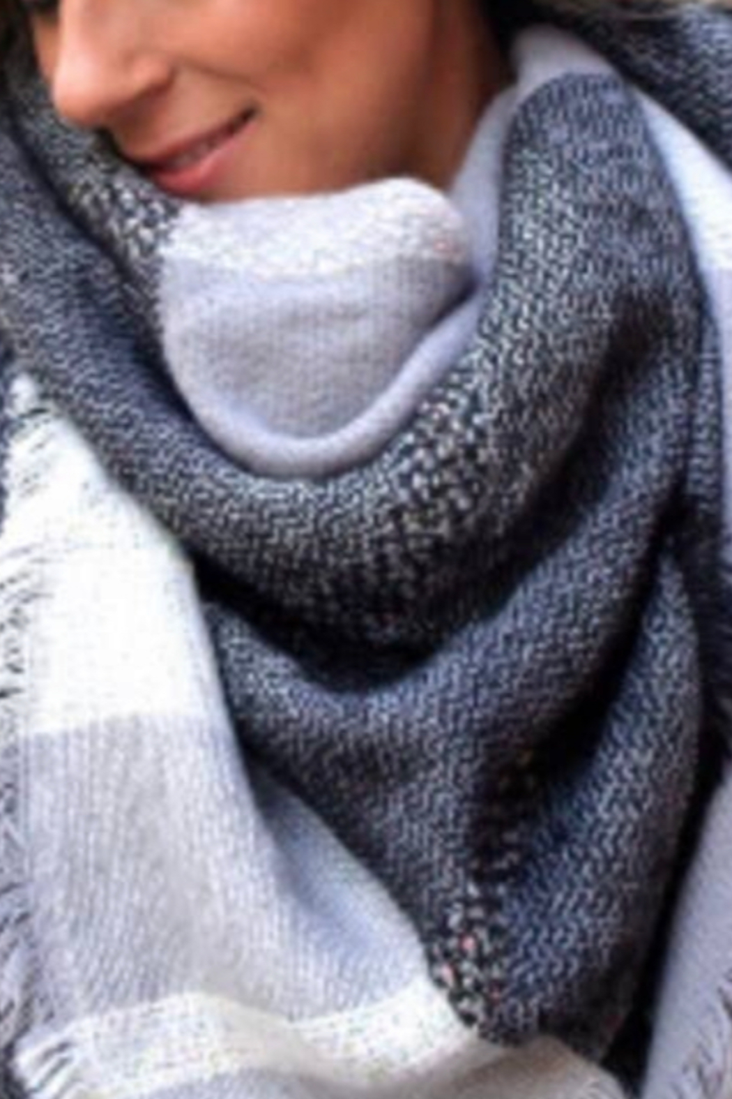 Beautifull Boundaries Blanket Scarf Oversized Square - Front Cropped Image