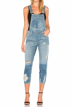 Shoptiques Product: Distressed Boyfriend Overalls