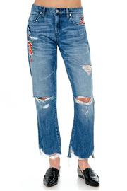 Shoptiques Product: Embroidered Boyfriend Jeans