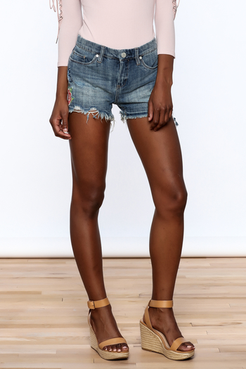 BlankNYC Embroidered Denim Shorts - Main Image