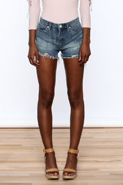 BlankNYC Embroidered Denim Shorts - Side cropped