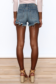 BlankNYC Embroidered Denim Shorts - Back cropped