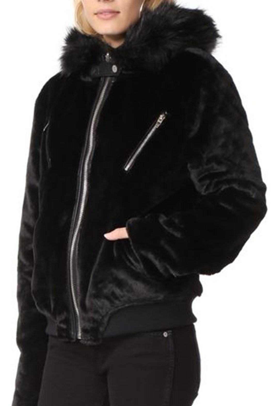 BlankNYC Faux Fur Parka - Front Full Image