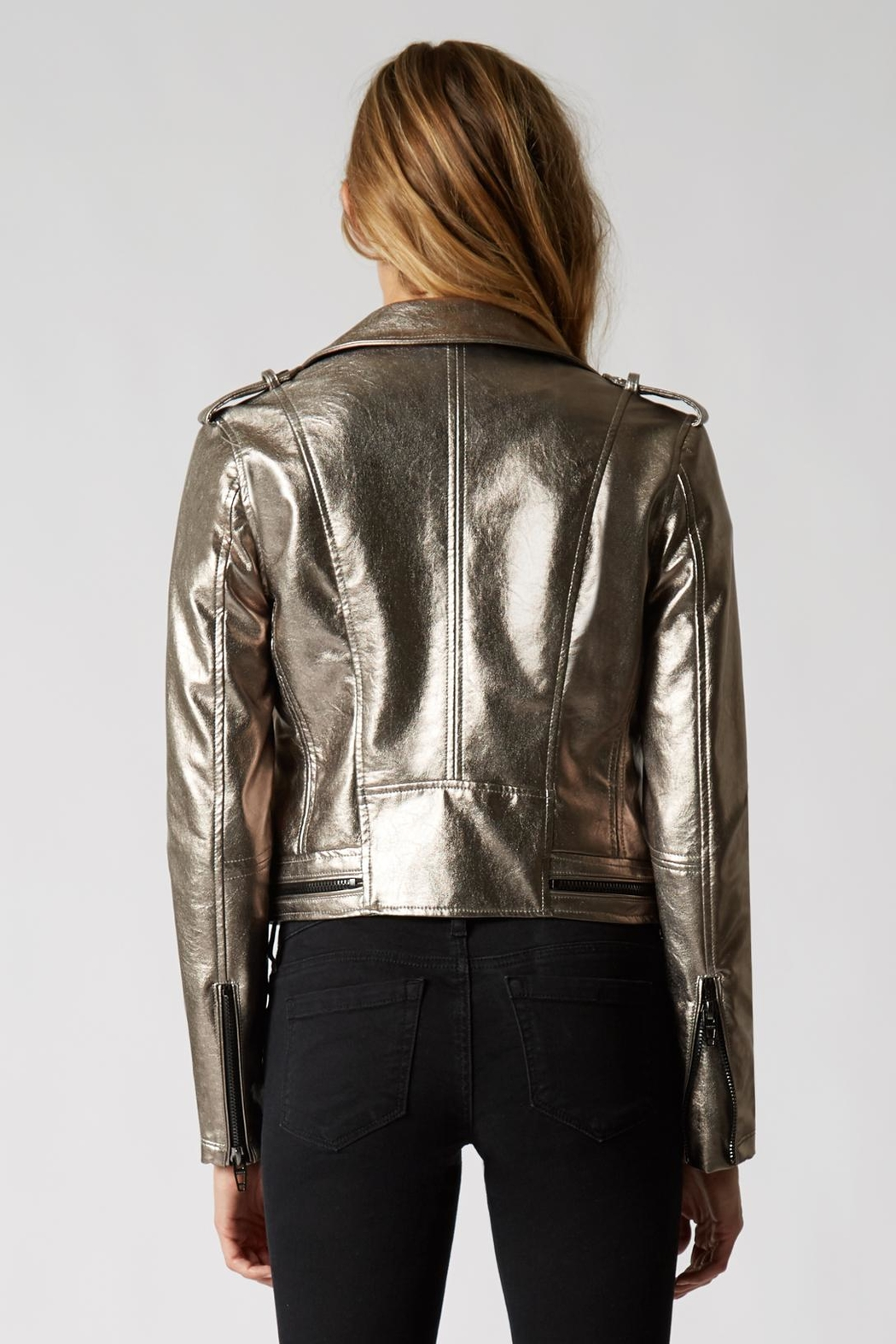 BlankNYC Metallic Jacket - Side Cropped Image