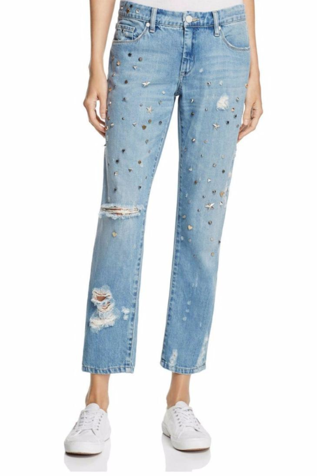 BlankNYC Studded Boyfriend Jeans - Front Cropped Image