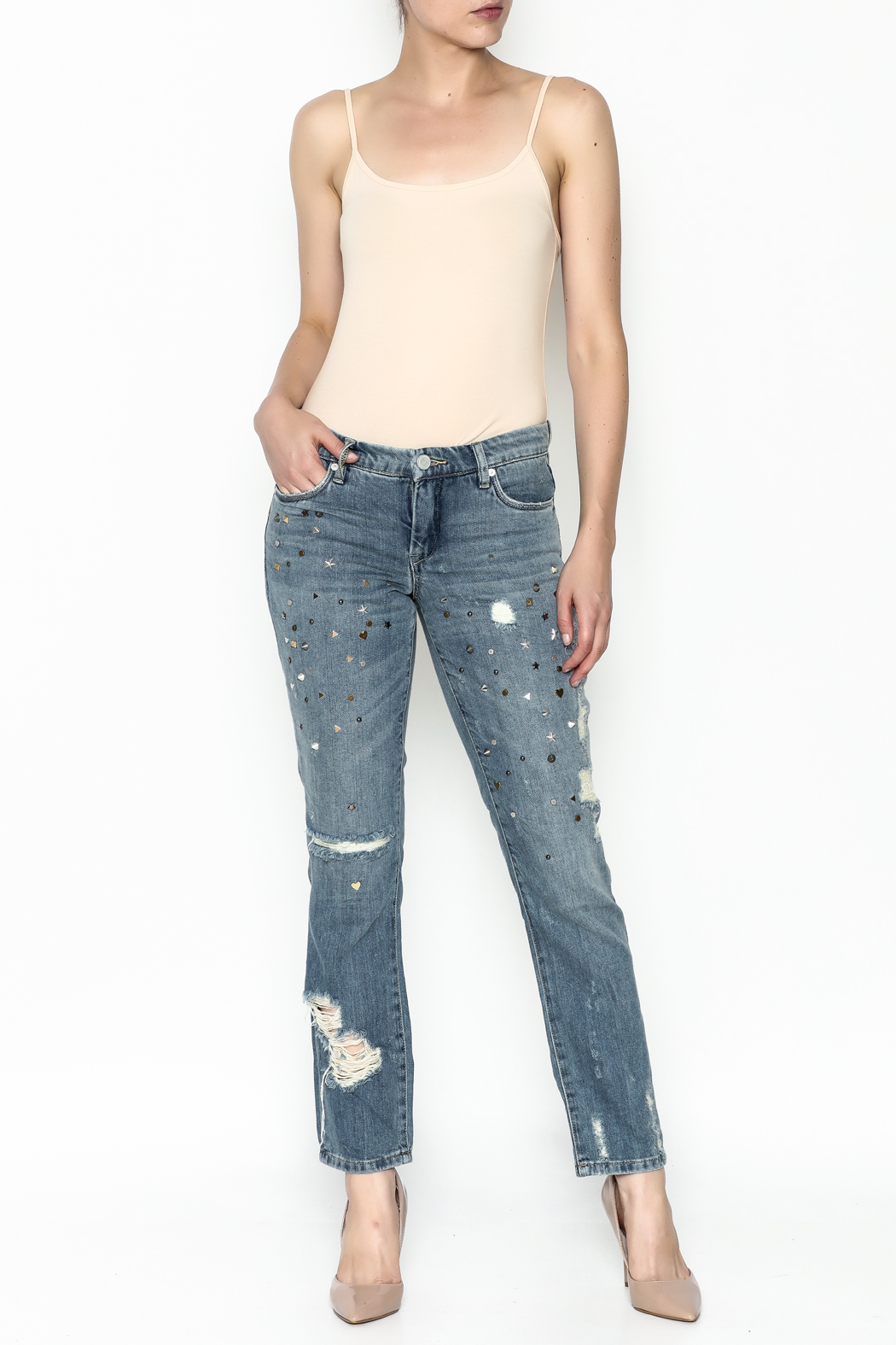 BlankNYC Studded Jeans - Side Cropped Image