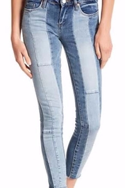 BlankNYC The Reade Multi-Color Cropped Skinny Jeans - Product Mini Image