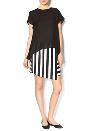 Blaque Label Black High Low Shirt - Front full body