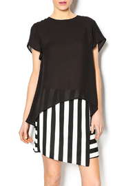 Blaque Label Black High Low Shirt - Front cropped