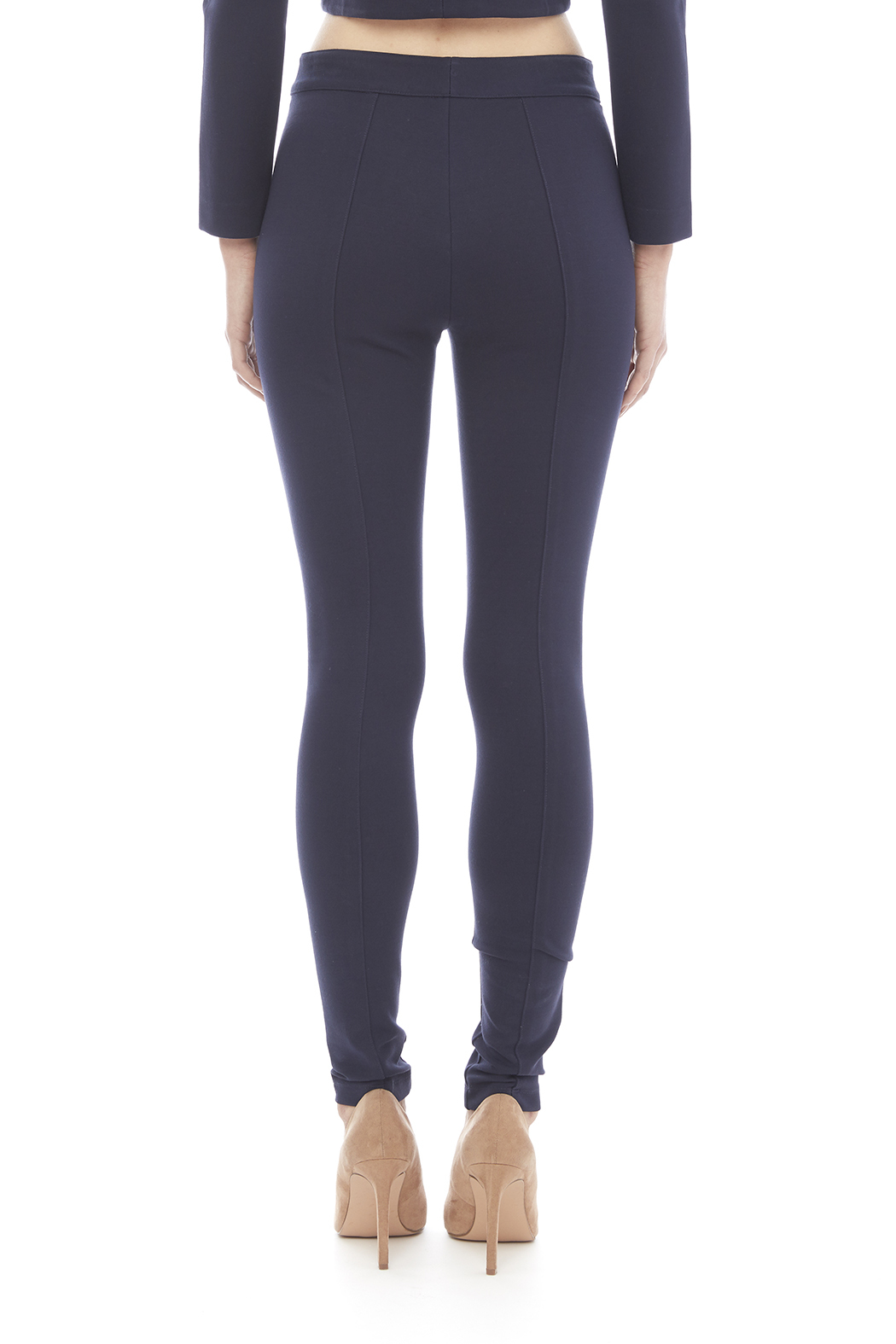 Blaque Label Kinit Navy Pants - Back Cropped Image