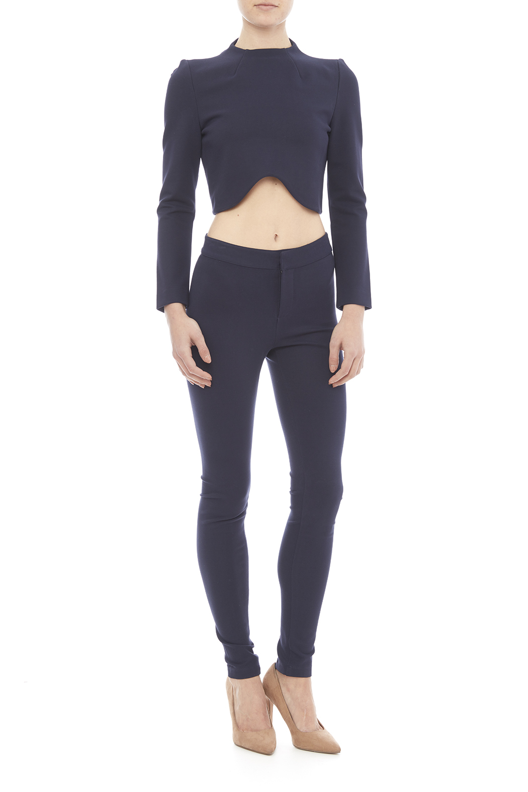 Blaque Label Kinit Navy Pants - Front Full Image