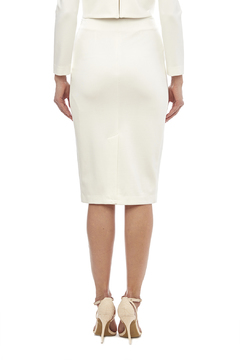 Shoptiques Product: White Knit Pencil Skirt