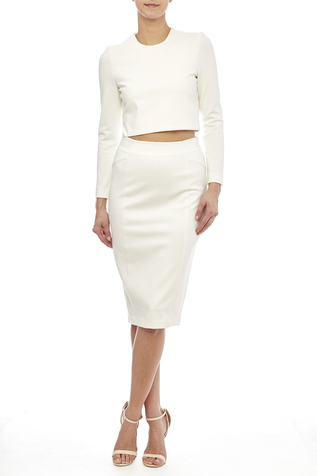 Blaque Label White Knit Pencil Skirt from Houston by Heiress ...