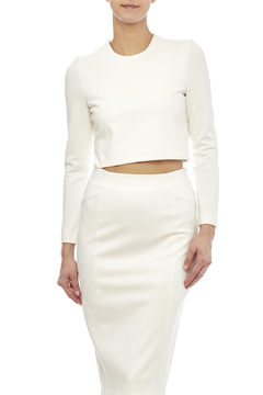 Shoptiques Product: White Long Sleeve Crop Top