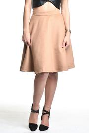 Blaque Label Camel High-Waisted Skirt - Product Mini Image