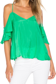 Blaque Label Ruffle Top - Front cropped